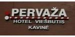 """Pristatome ekonominės klasės viešbutį """"PERVAŽA"""", Smėlynės g. 112, Panevėžyje.  Viešbutis yra pusiaukelėje tarp sostinių – Vilniaus ir Rygos.  Svečiams siūlome 27 kambarius, 79 vietas. Gyventojai pusryčiauja jaukiai įrengtoje viešbučio kavinukėje. Konferencijų salė talpina iki 50 žmonių. Viešbučio patalpose veikia bevielis internetas. Šalia pastato įrengta  automobilių stovėjimo aikštelė.   ANTRAME AUKŠTE VEIKIA LIETUVIŠKŲ PATIEKALŲ KAVINĖ. DARBO LAIKAS DARBO DIENOMIS: NUO 10-15 VAL.  Pastate Jūsų paslaugoms:  - masažo kambarys, - soliariumas, - DVD nuoma, - gėlių, - maisto prekių, - drabužių parduotuvės, - vaistinė.   Viešbučio darbuotojai su malonumu pasirūpins svečių laisvalaikiu.  Užsakys transportą ekskursijai, gidą, suteiks išsamią informaciją apie miestą ir apylinkes. Viešbutyje taikoma lanksti nuolaidų sistema. Maloniai kviečiame apsilankyti."""