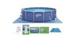 """Karkasiniai """"Frame pool"""" baseinai Karkasiniai baseinai """"Frame pool"""" skirti visai šeimai, jie dideli, erdvūs. Baseinai yra pagaminti iš galvanizuoto plieno, kuriam suteikiama 5 metų garantija. Baseinų vidus klojamas 0.8 mm PVC danga, kurios vidinėje dalyje yra poliesterinis tinklelis, suteikiantis papildomą sienelių apsaugą. Baseinai gali būti montuojami pastatant juos tiesiog ant žemės. """"Frame pool"""" baseinų komplektacijoje yra: apsaugotos nuo rūdijimo galvanizuotos kopėtėlės yra su plastikiniais laipteliais, lengvai surenkamos, patiesalas, baseino priežiūros rinkinys, vandens filtravimo sistema ir uždangalas, kuris apsaugos nuo medžių lapų bei nešvarumų. Jūs sutaupysite savo brangų laiką, nes nereikės jo gaišti baseino valymui. Montavimo instrukcija lietuvių kalba.  Pristatome į bet kurį Lietuvos miestelį..! Daugiau informacijos rasite: www.sportcom.lt"""